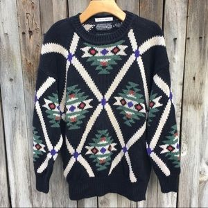 Members Only Vintage Southwestern Cotton Sweater